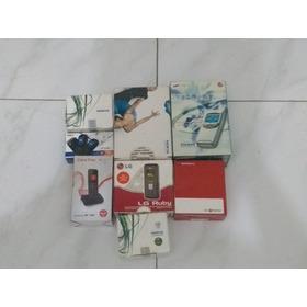 Caixa Celular Samsung LG Motorola Alcatel Com Manuais