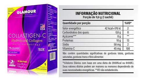 caixa colágeno collastigen-c 20 sachês - midway