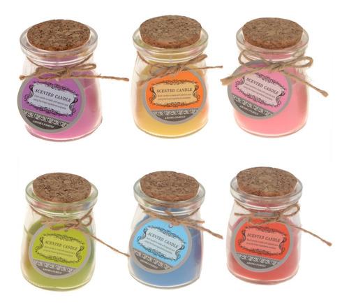 caixa com 12 velas aromaticas - vidro - family