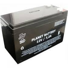 caixa com 5 bateria selada planet 12v 7a..