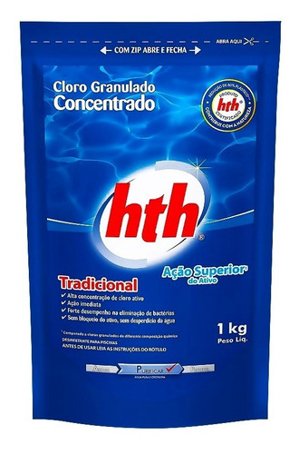 caixa com 5 refis refil hth cloro granulado trad 10 em 1