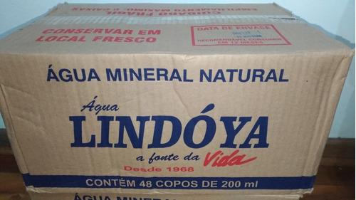 caixa com água mineral em copo lindóya com 48 unidades 200ml