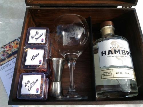 caixa com especiarias para gin tônica artesanal