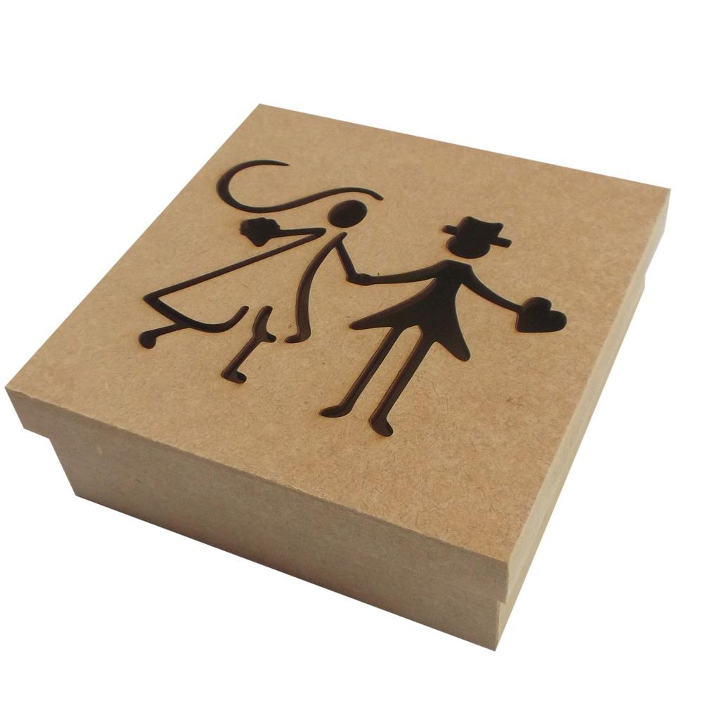 Caixa Convite Casamento Padrinhos Mdf Com10und20x20 R 7005 Em