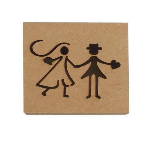 caixa convite casamento padrinhos mdf kit c/20und. megatudo