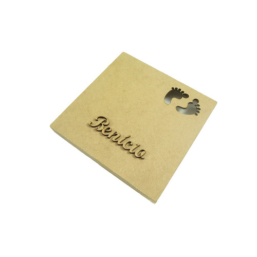 caixa convite chá de bebê pezinho kit 10 mdf- megatudo