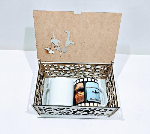 caixa convite de casamento branca mdf - 5 caixas