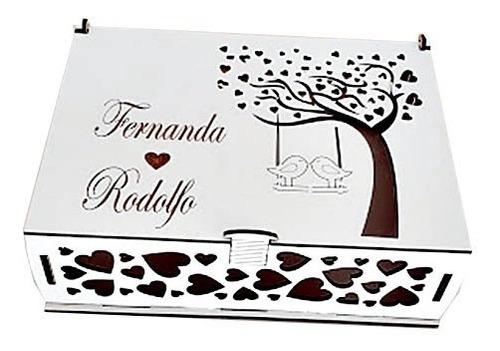 caixa convite de casamento passarinho mdf - 10 unidades