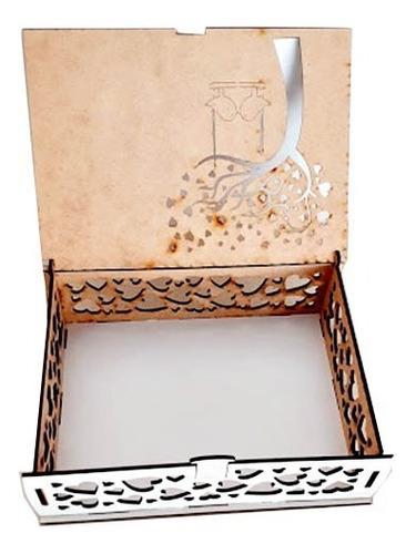 caixa convite de casamento passarinho mdf - 4 unidades
