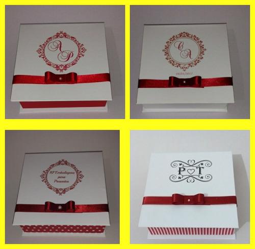 caixa convite lembrança de padrinho - kit com 10 unidades