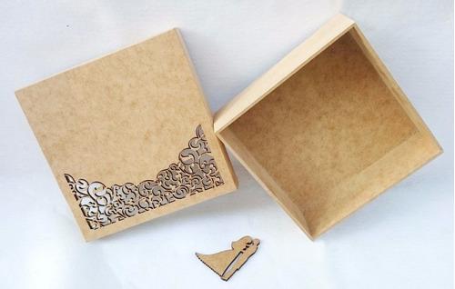 caixa convite mdf crú lembrancinha casamento - padrinho rf01