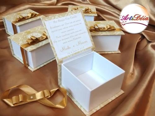 caixa convite padrinho lembrança box casamento 12 x s/ juros