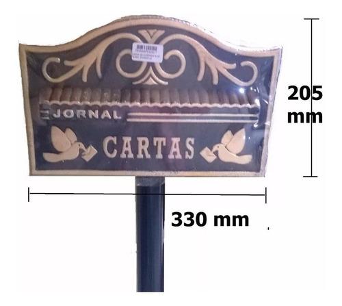 caixa correio correspondência americana pedestal condominio