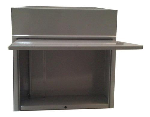 caixa correspondência grade vertical telhado reto
