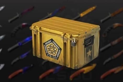 caixa csgo random skin (pode cair facas/ak-47 fire serpent)
