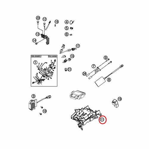 caixa da central de efi ktm 250-350 sx-f/xc-f 11-13