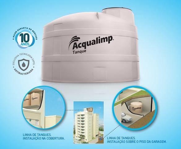 Caixa d 39 gua litros acqualimp aqualimp polietileno for Valor estanque de agua 10000 litros