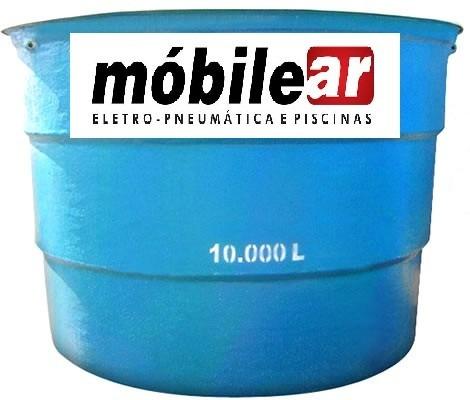 Caixa d 39 gua litros de fibra r em for Valor estanque de agua 10000 litros