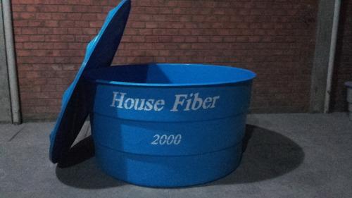 caixa d'água 2000 litros redonda em fibra