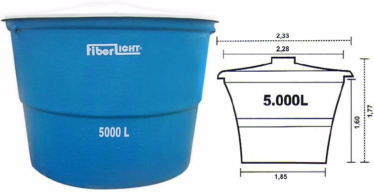 Caixa d 39 agua litros fibra de vidro frete promo o for Estanque de agua 5000 litros