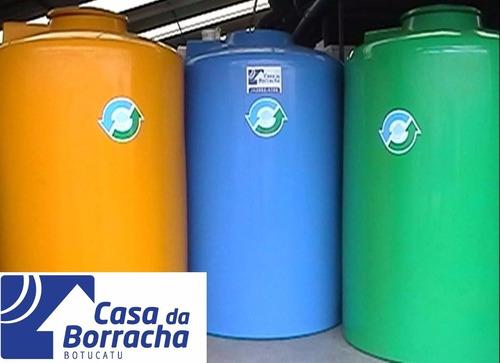 caixa d´agua vertical 2.000 l p/ água potavel - verde