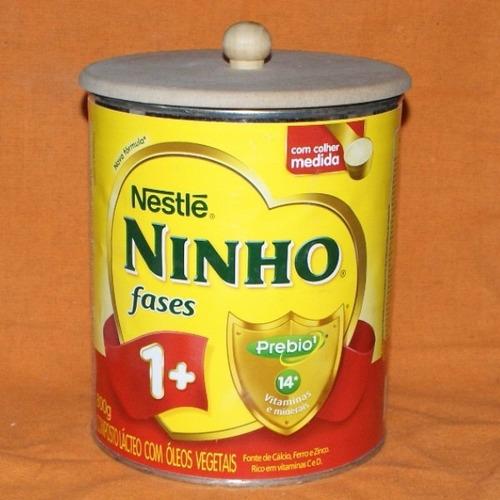 caixa de 25 tampas de neston 400g e ninho 800g  com puxador