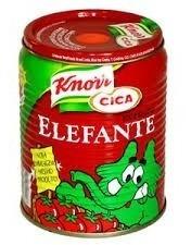 caixa de 25 tampas de pomarola e molho elefante com puxador