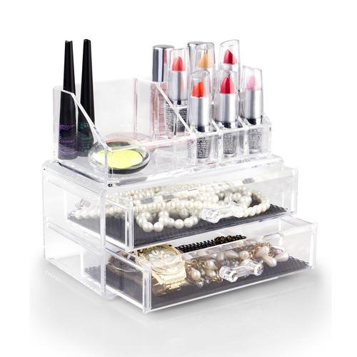 caixa de acrilico com gavetas maleta para cosmeticos esmalte