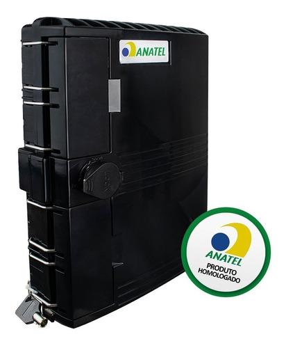 caixa de atendimento óptico evus para 16 fibras ftth (cto)
