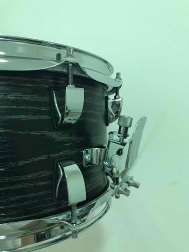 caixa de bateria odery 10 x 6 inrock black ash fosco in rock