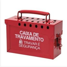 Caixa De Bloqueio E Travamento - Metal 13 Cadeados Loto Nr10