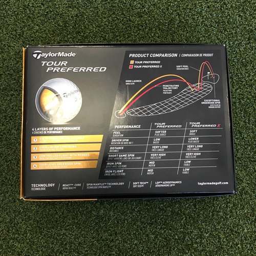 caixa de bolas golfe taylormade tp tour preferred 12 units