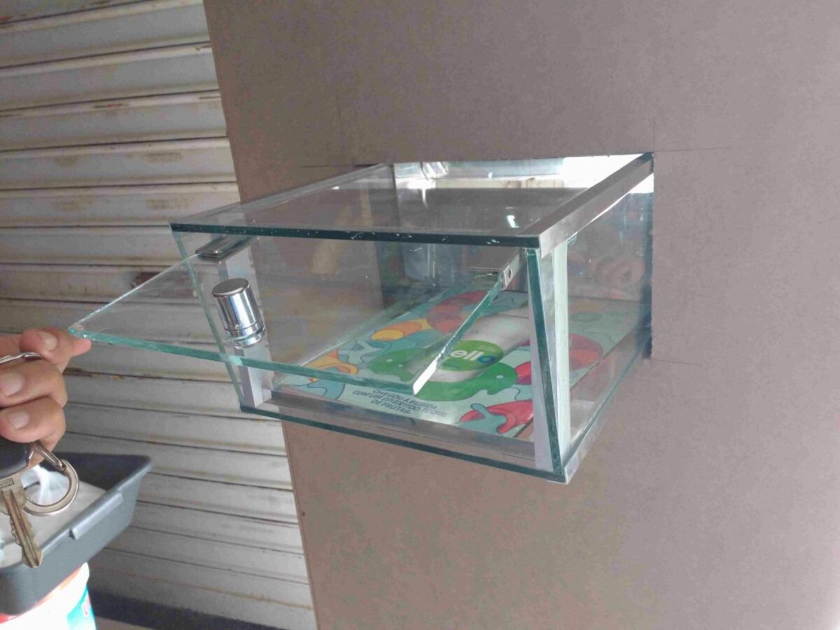 Artesanato Na Rede ~ Caixa De Correio Em Aço Inox E Vidro 19 X 30cm R$ 221,50 em Mercado Livre