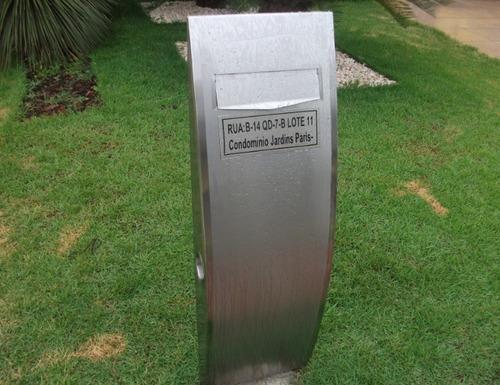 caixa de correio em inox - diamont