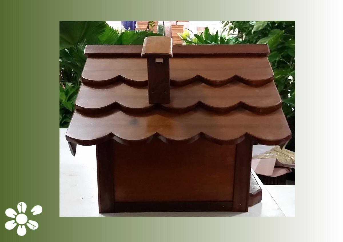 Caixa De Correio M Em Madeira De Cédro Tipo Casinha R$ 279 00 em  #29180A 1200x848