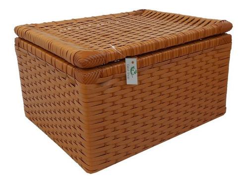 caixa de fibra sintética avelã 34x26x20