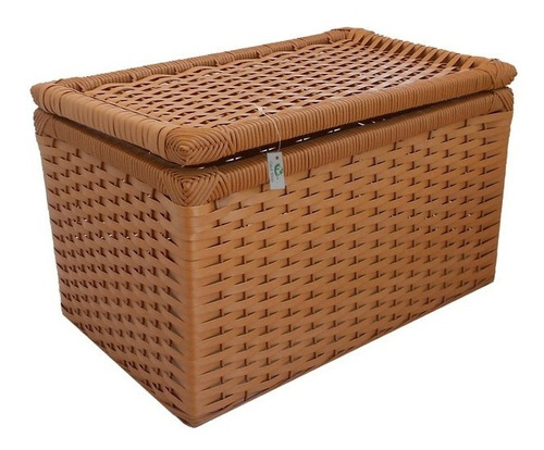 caixa de fibra sintética avelã 50x30x30