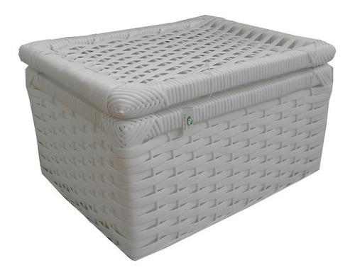 caixa de fibra sintética branca 30x24x18