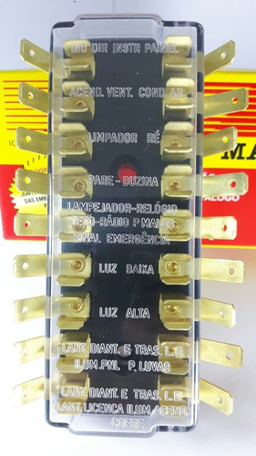 caixa de fusível para opala nº gm 9298218 / 9 polos / 3037