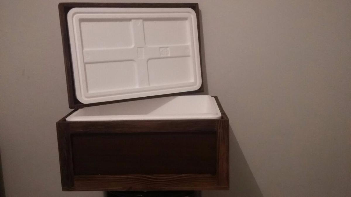 52cb5e4efae caixa de isopor revestida de madeira. Carregando zoom.
