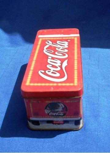caixa de lata com vela da coca cola   industria argentina