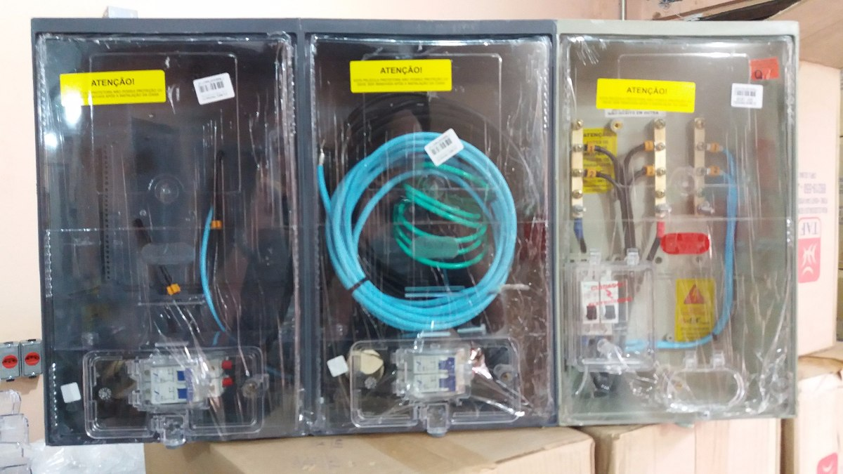 d5d5257a4fc caixa de luz 2 medidores poli - aes eletropaulo montada. Carregando zoom.