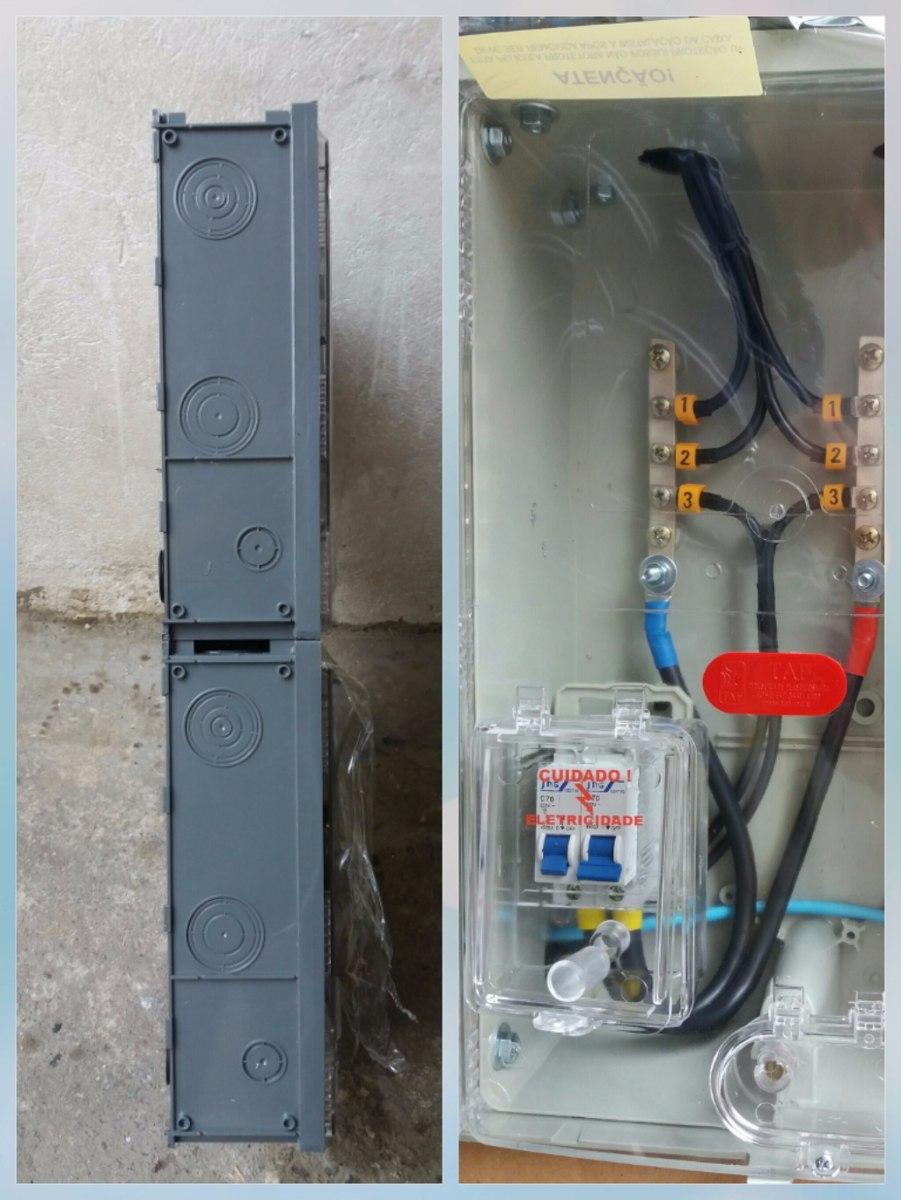 bd0086b5512 caixa de luz 3 medidores poli aes elet. enel montada. Carregando zoom.