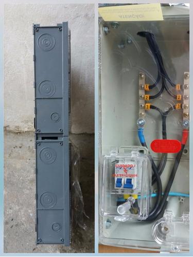 caixa de luz 3 medidores poli aes eletropaulo montada