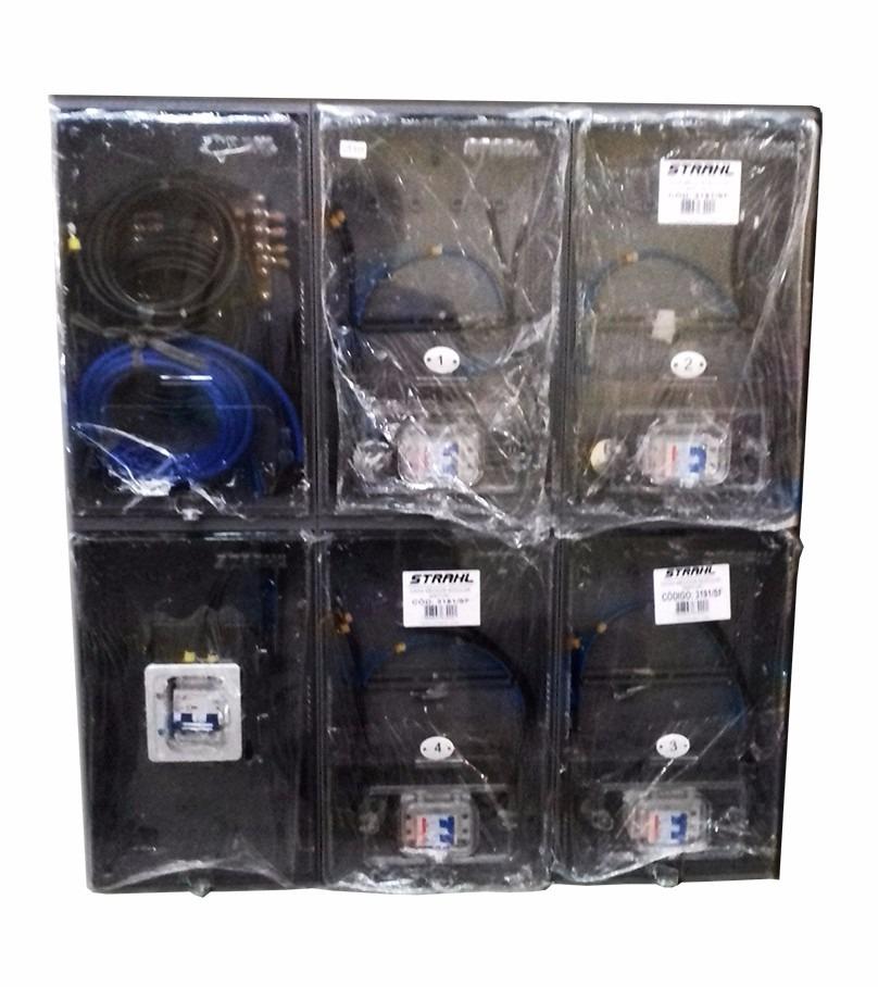 6a815b6f1d2 caixa de luz 4 medidores montada padrão eletropaulo. Carregando zoom.