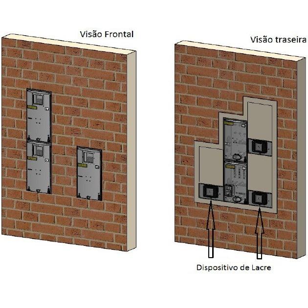 0fb608bc1a5 Caixa De Luz Padrão Eletropaulo 3 Medidor Rua Fio 25mm - Taf - R ...
