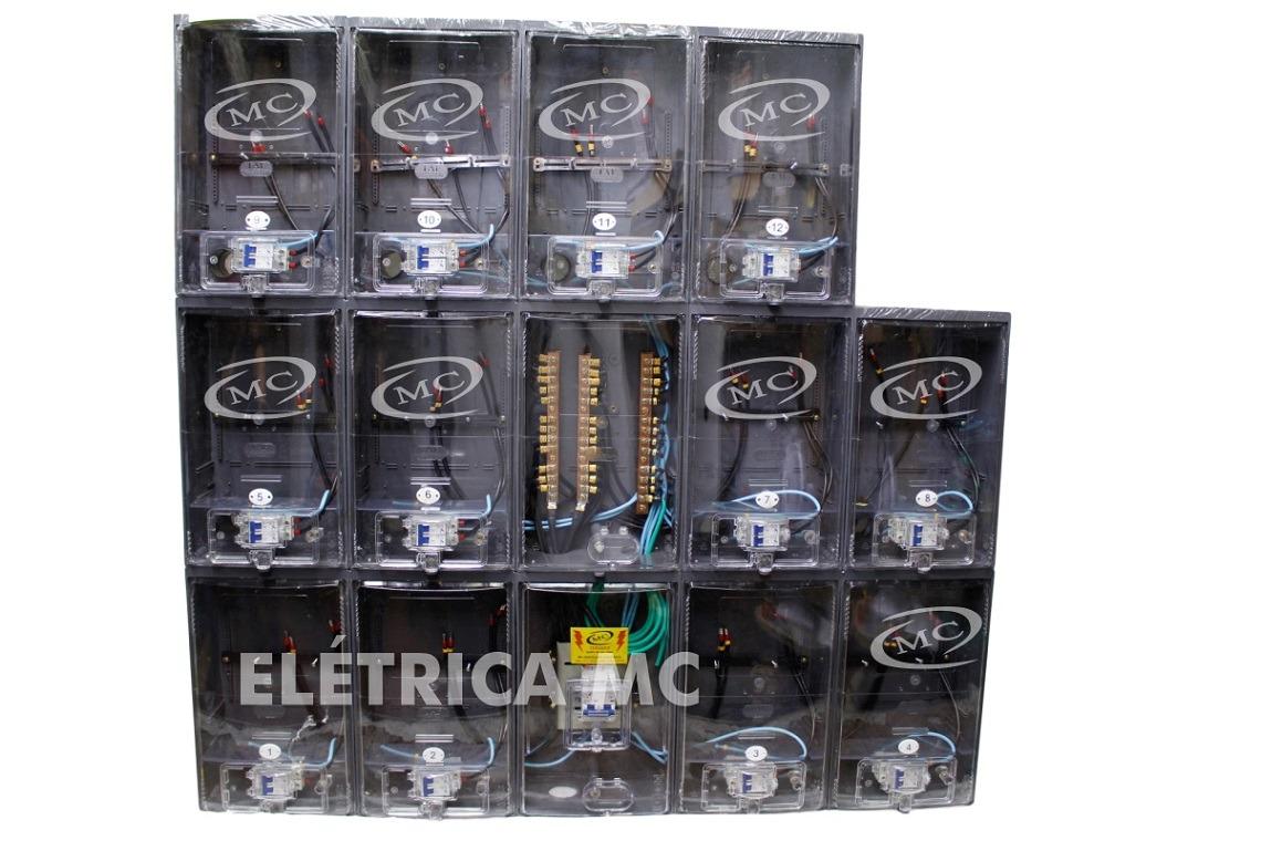 f2c08e1ab59 caixa de luz para 12 medidores padrão aes eletropaulo. Carregando zoom.