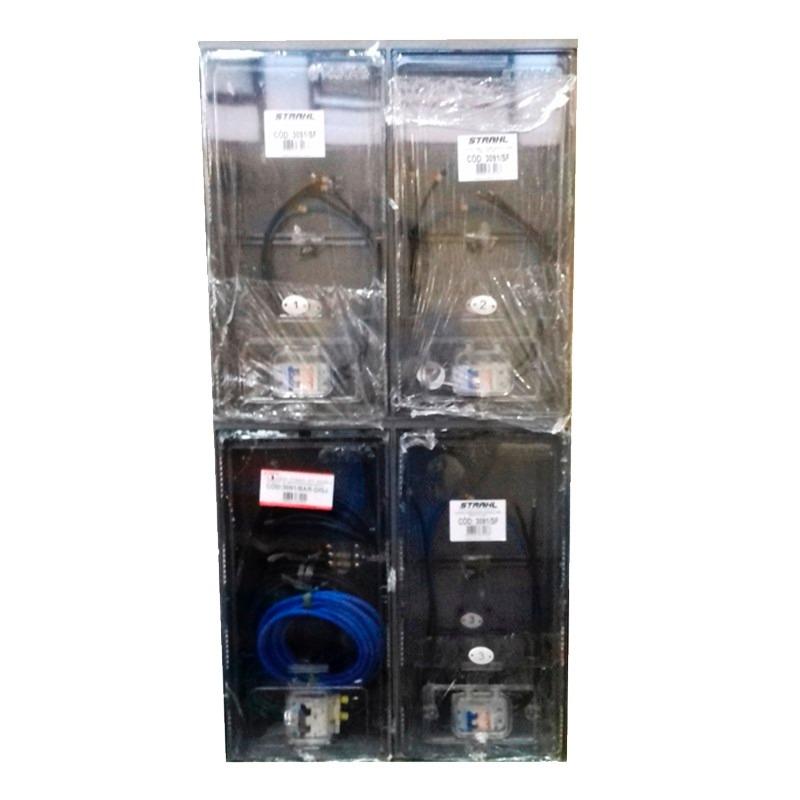 ead5f93f8ed caixa de luz para 3 medidores padrão aes eletropaulo montada. Carregando  zoom.