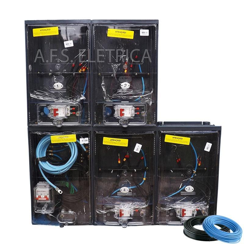 dc8de0ade9f caixa de luz para 4 medidores padrão eletropaulo montada. Carregando zoom.