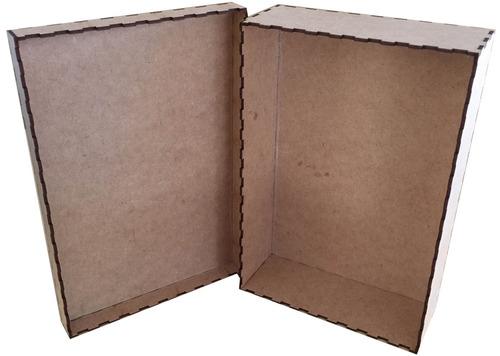 caixa de madeira mdf cru decoração com tampa decorativa art